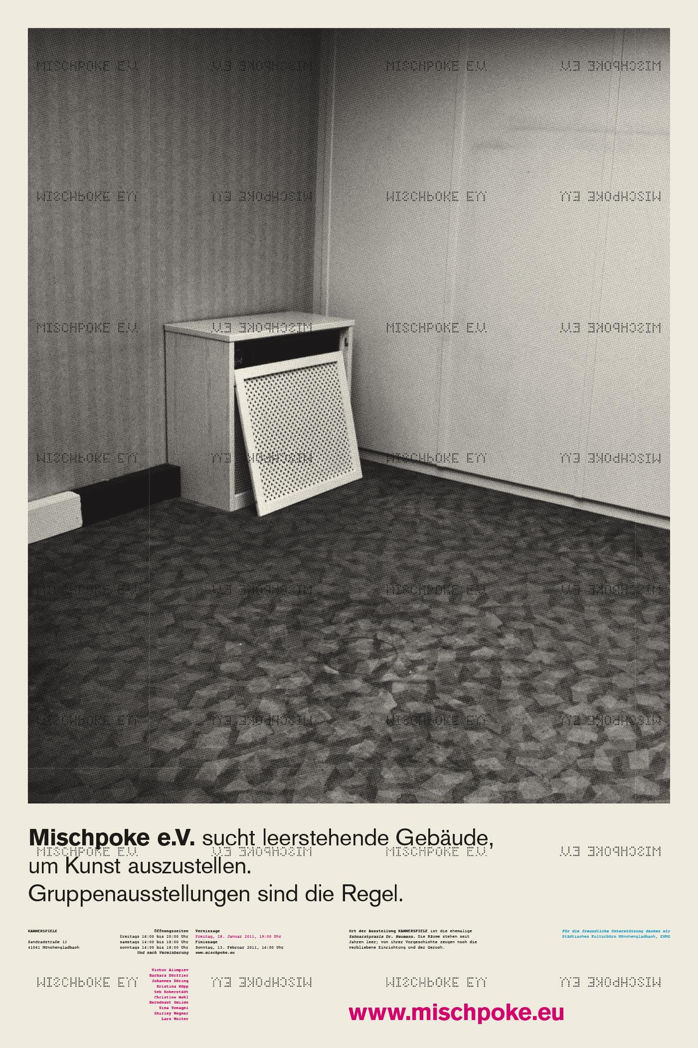 Corporate Design > Plakat für die Ausstellung Kammerspiele, Mischpoke e.V.
