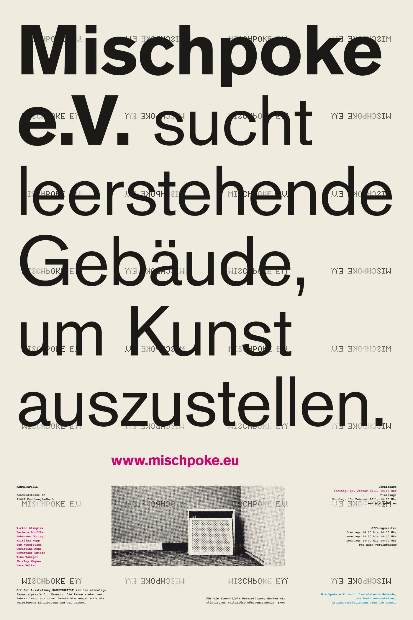 Corporate Design > Plakat für Mischpoke e.V. – Ausstellung »Kammerspiele«