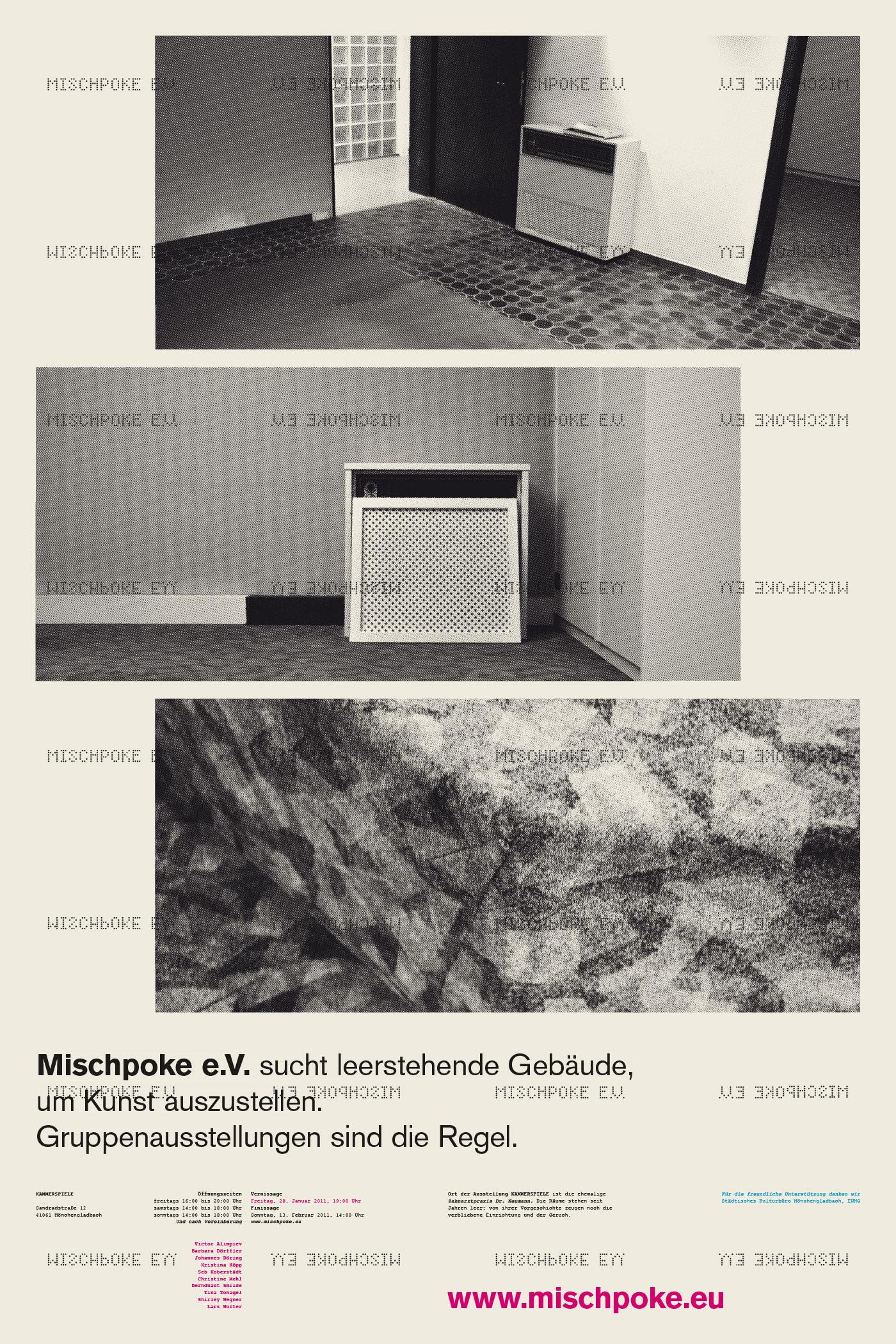 Plakat für »Kammerspiele«, Kunstverein Mischpoke e.V., Corporate Design