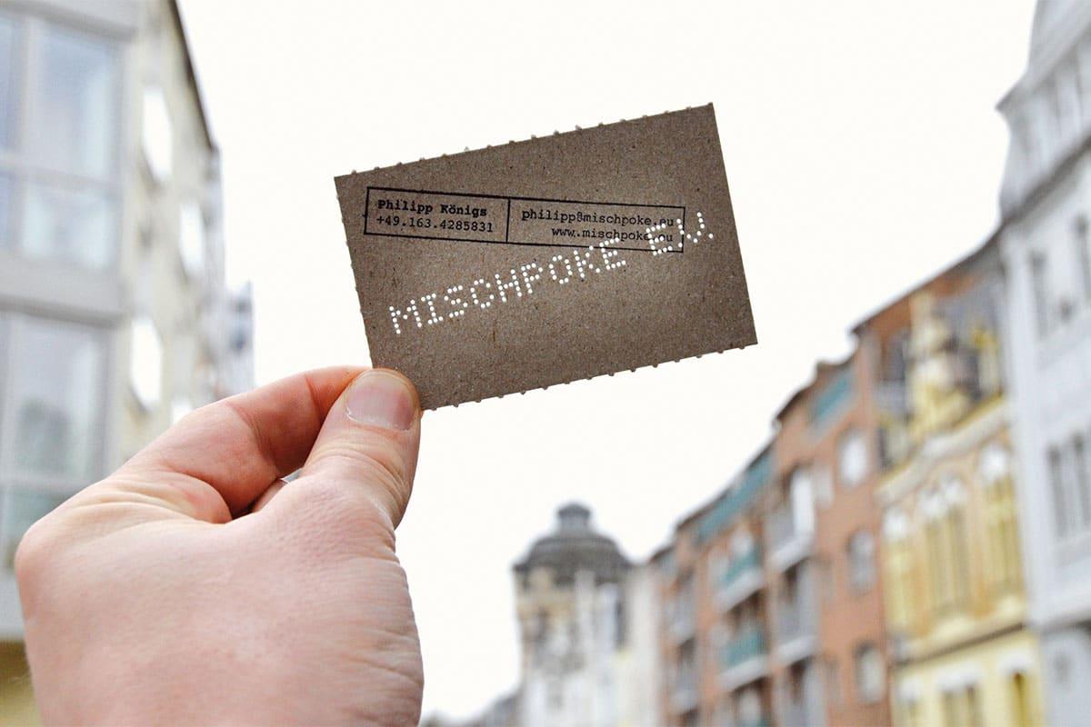 Corporate Design –Visitenkarte für Mischpoke e.V.