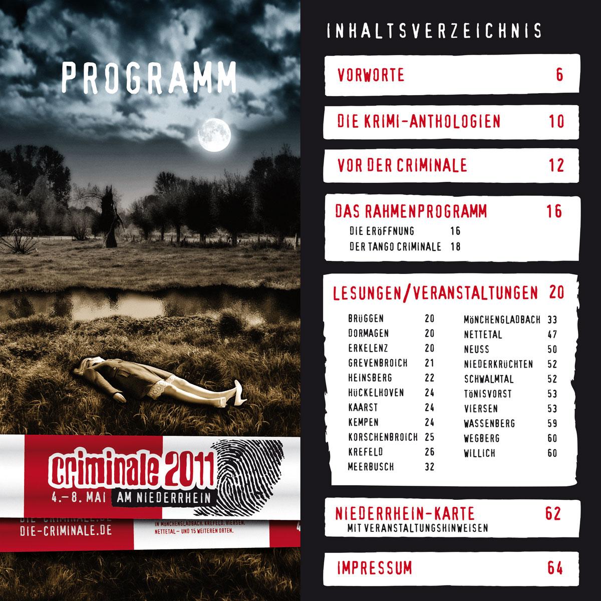 Criminale 2011 – Programmheft