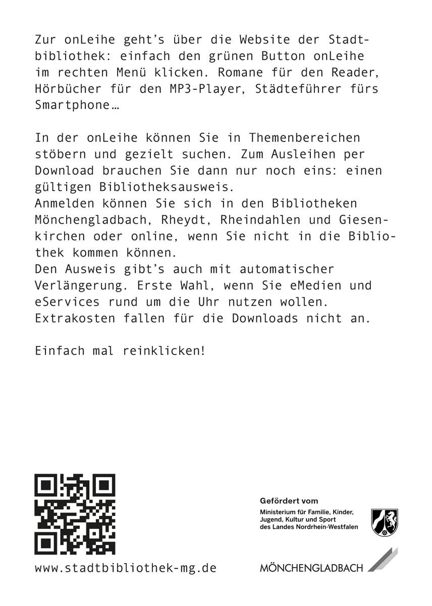 OnLeihe Mönchengladbach > Postkarte, Rückseite 1