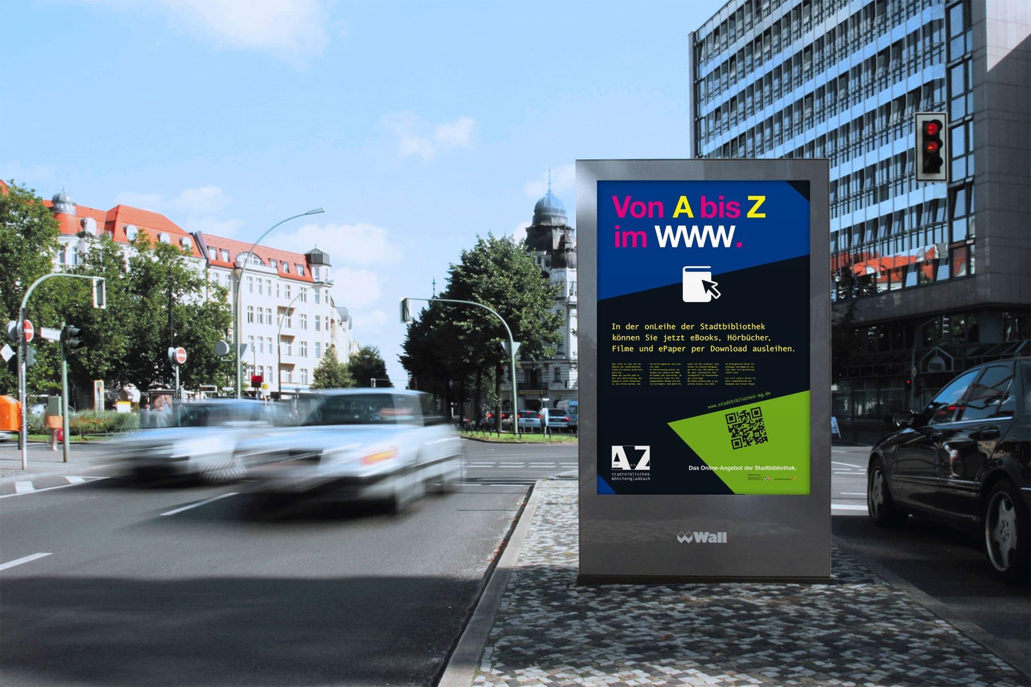 OnLeihe Mönchengladbach > Citylight-Plakat