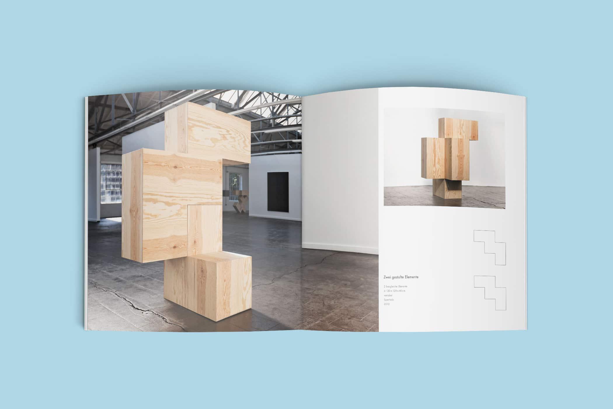 Ausstellungskatalog für den Künstler Wolfgang Hahn